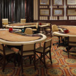 Wooden baccarat gaming table