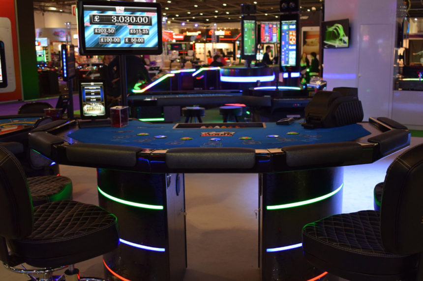 Blackjack Table with LED's