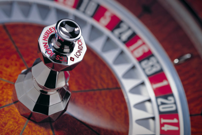 Hand crafted roulette wheel