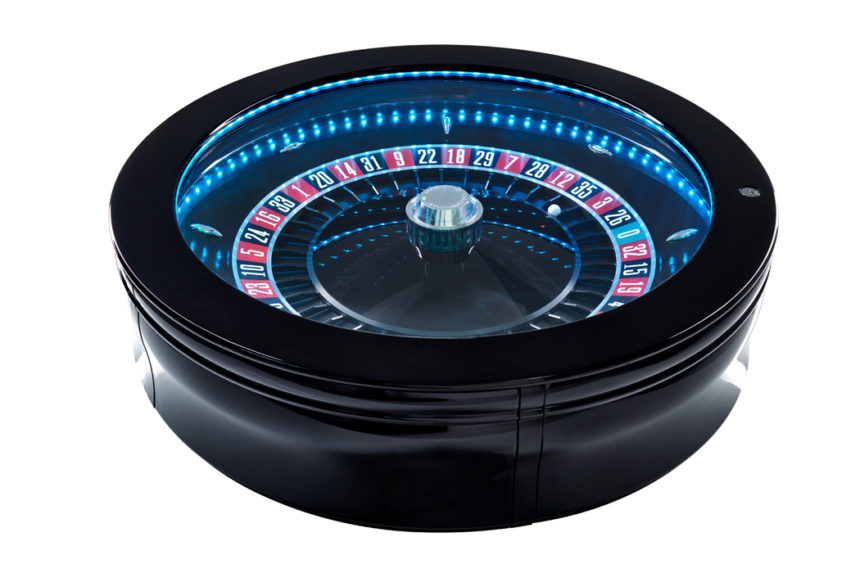 Saturn Auto Roulette Wheel, the compact table top automatic Roulette