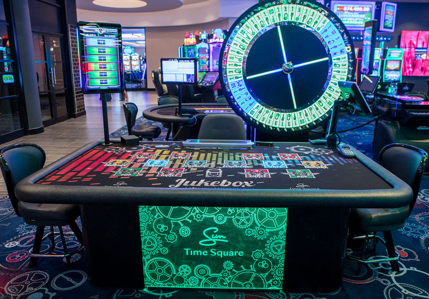 Money Wheel Blaze table