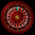 Roulette Wheel in cherry wood