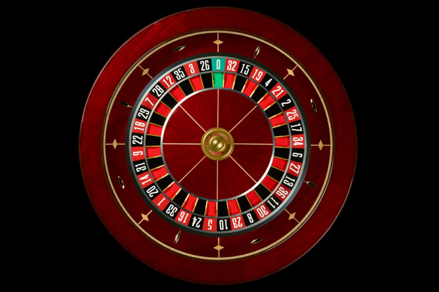 Cherry Wood Roulette Wheel