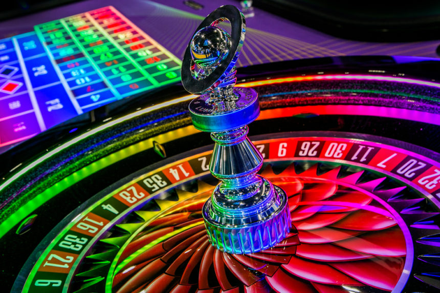 Saturn Glo Roulette Wheel is an eye-catching LED lit Roulette Wheel