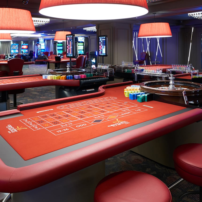 Roulette table, Century Casino bath